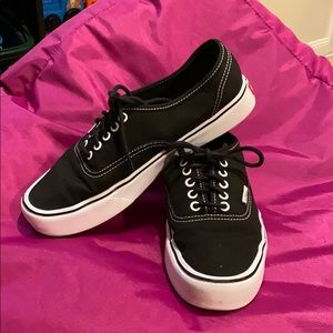 Vans-black and white ultracush lite shoes size 10